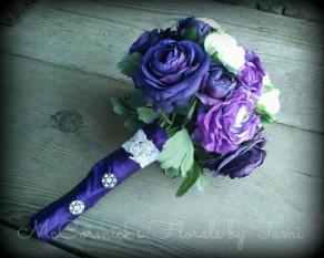 Silk purple bouquet
