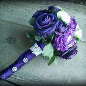 Silk purple bouquet