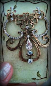 Creative brass pendant H