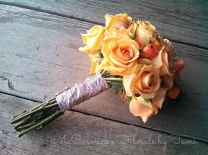 Orange and spray rose glitter 1