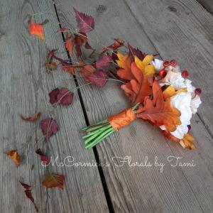 Fall Silk Cascade Bouquet 1B