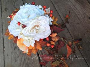 Fall Silk Cascade Bouquet 1C