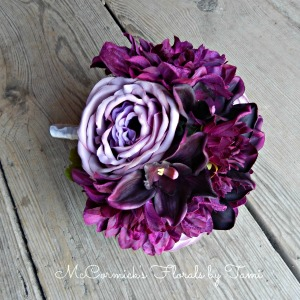 Purple Silk Bouquet 1A